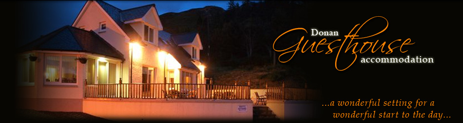 Ross-Shire Guest House bed and Breakfast Accommodation in Dornie, near Kyle overlooking Eilean Donan Castle
